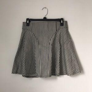 TIBI striped flare mini skirt